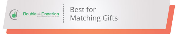 If you're looking for a nonprofit software for matching gifts, Double the Donation is the perfect provider.