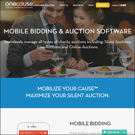 Discover OneCause's auction software for your next school fundraising event.