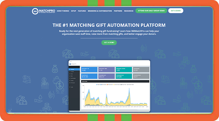 Try 360 MatchPro for your next peer-to-peer fundraising platform add-on.