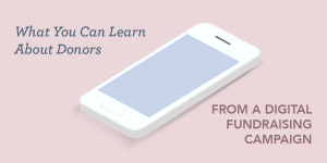 What You can Learn About Donors from a Digital Fundraising Campaign