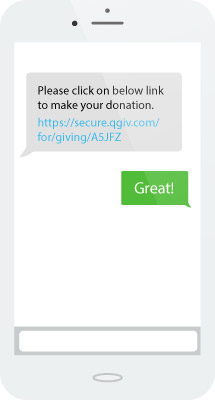 Boost text to give donations by choosing a simple shortcode.