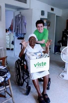 A VISTE client and volunteer pose for a sweet, compelling photo.