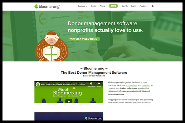 Learn more about Bloomerang's nonprofit software.