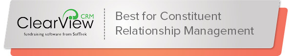 ClearView CRM is the best nonprofit software for constituent relationship management.