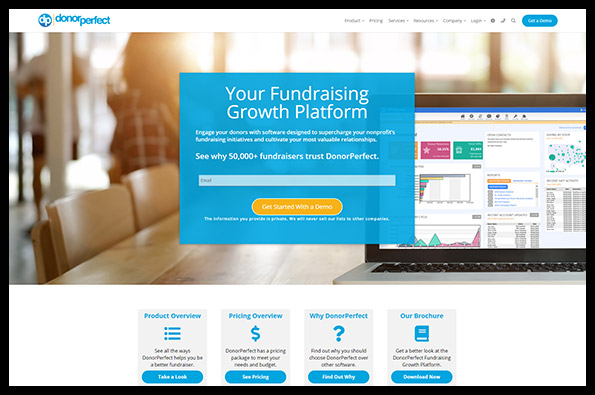 Learn more about DonorPerfect's nonprofit software.