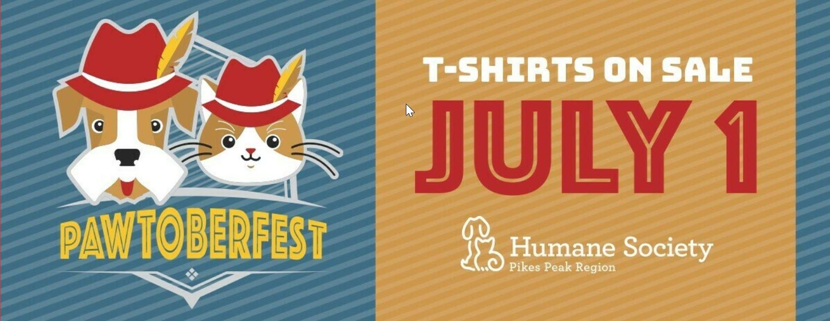 Header from Pikes Peak Humane Society's annual Pawtoberfest fundraiser