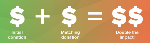 Enhance your peer-to-peer fundraising campaign with matching gifts!