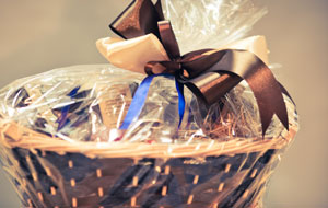 Gift baskets are great auction item ideas.