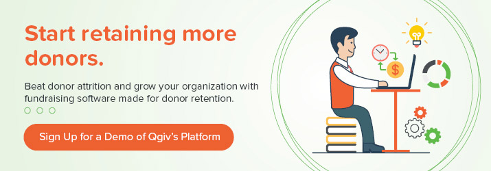Learn more about boosting donor retention with a demo of Qgiv.