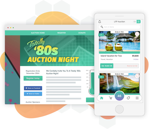 Mobile Bidding Software, Silent Auction Event Management