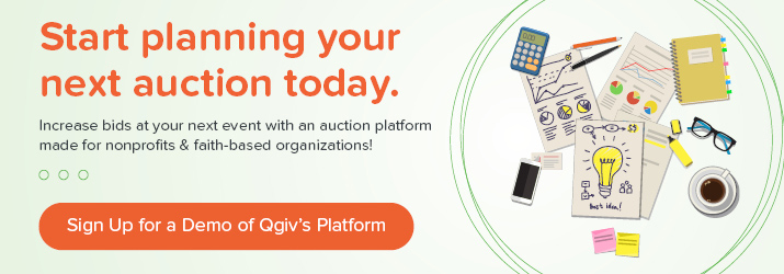 Come up with great auction item ideas and sign up for a demo of Qgiv's auction software.