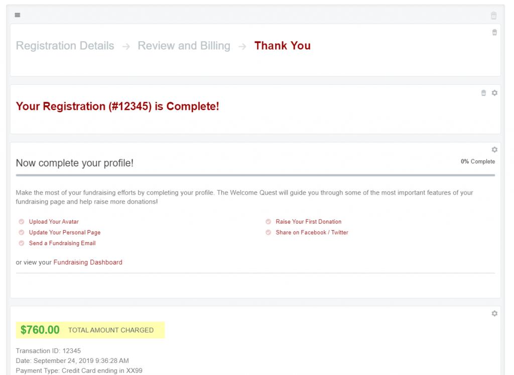 Unmodified Qgiv Registration Details Page.