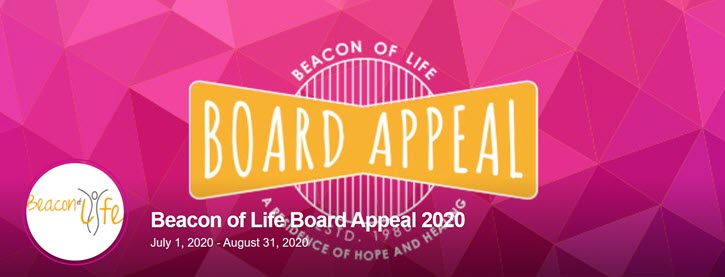 Board fundraising example from Beacon of Life