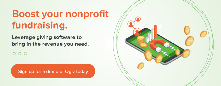 Boost your nonprofit fundraising with a demo from Qgiv.