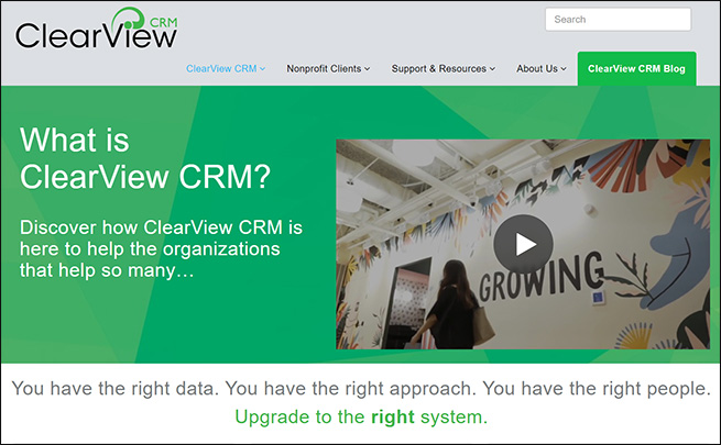 ClearViewCRM, a school fundraising software, can help you manage your donors.