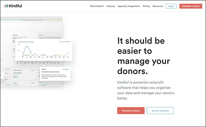 Check out this fundraising software for education, Kindful.