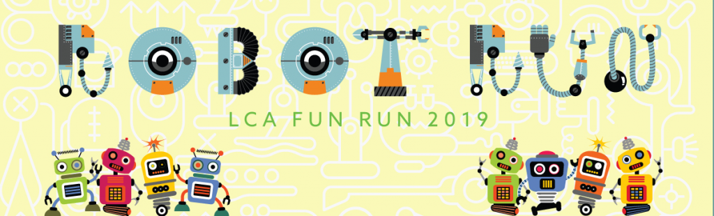 Loganville Christian Academy did a great job designing the header advertising their 2019 Robot Fun Run event.