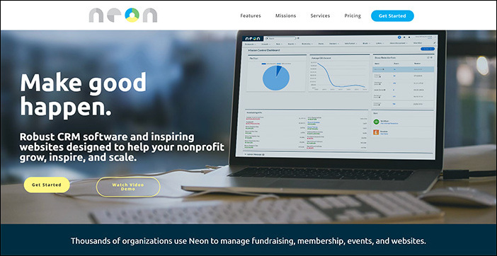NeonCRM's nonprofit software can be found on their website.