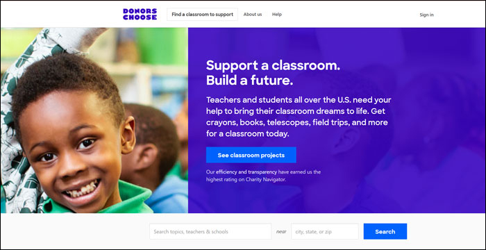 Learn more about DonorsChoose and how this PayPal alternative can help you.
