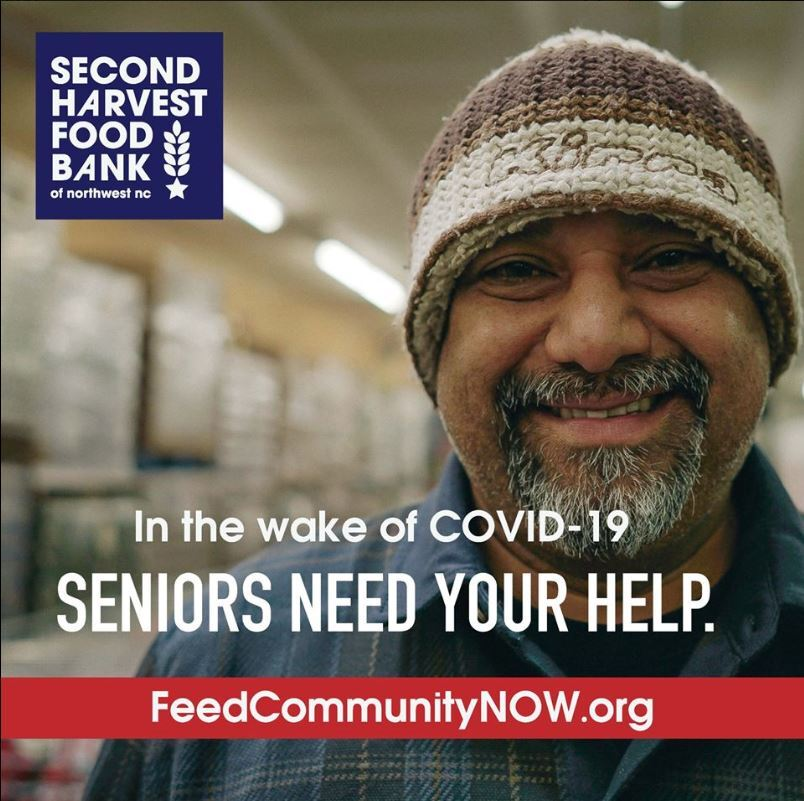 Second Harvest Food Bank created this image to share on social media with a link to their virtual supply drive during the coronavirus pandemic.