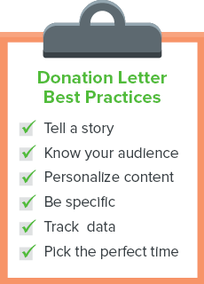 Follow these donation letter best practices.