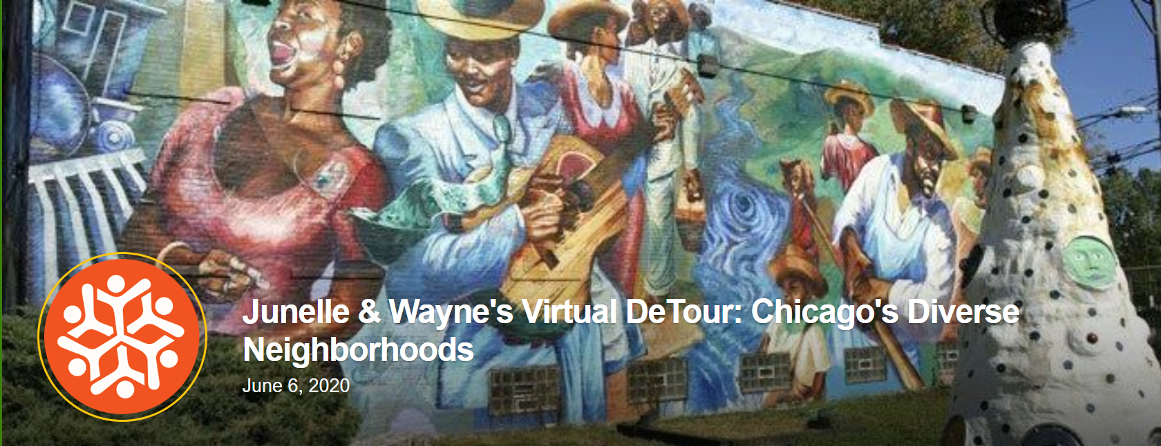Image showing a mural that is a stop on Snow City Arts' virtual art tour in Chicago's neighborhoods.