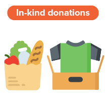 Consider asking for in-kind donations for your next virtual fundraising idea.