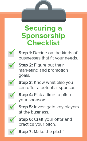 This is a checklist for how to secure sponsorship for your walkathon, bikeathon, runathon fundraiser event.