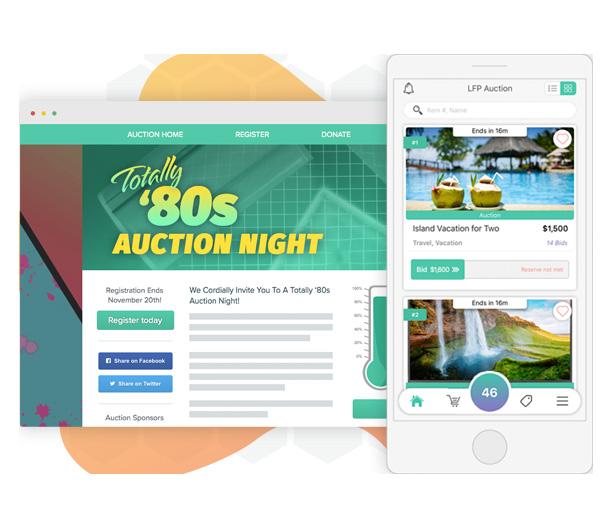 Auction online fundraising platform can maximize your success.
