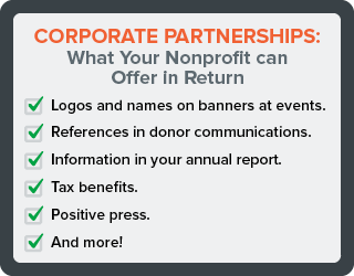 What can you offer in return when you ask donations from companies.
