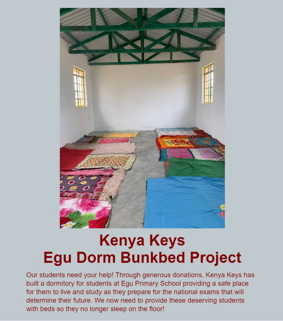 Kenya Keys set a specific, attainable goal for their Giving Tuesday fundraising campaign.