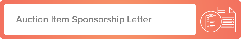 Explore our auction item sponsorship letter template.