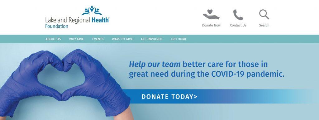 Lakeland-Regional-Health-donation-website-example
