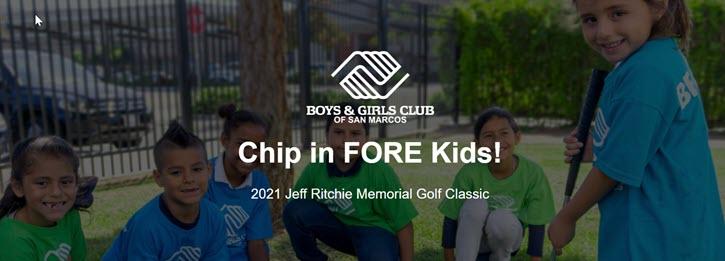 Golf fundraiser example from San Marcos Boys & Girls Club