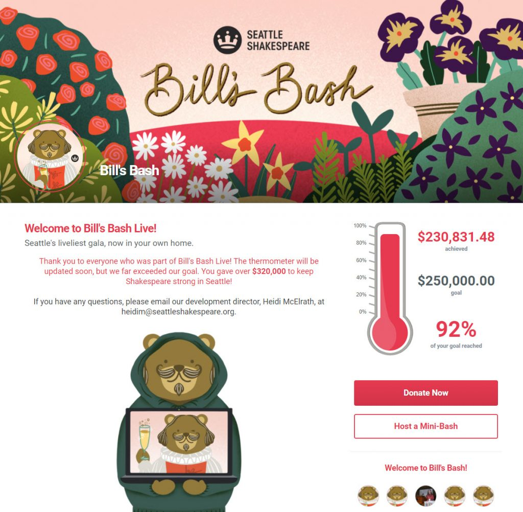 Bill's Bash was a successful gala event that raised more than $320,000.