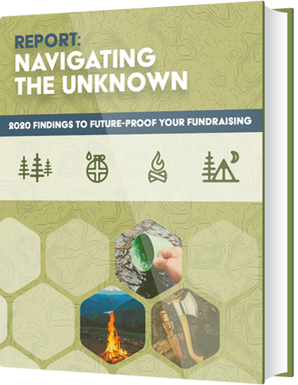 Cover of Navigating the Unknown: 2020 Findings to Future-Proof Your Fundraising Report.