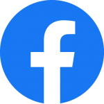 The Facebook logo, which is a lowercase F in Facebook's unique font with a blue background.