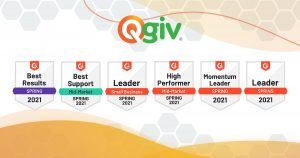 Qgiv Named Fundraising Technology Leader with the Best Results for the Third Consecutive Year by G2 Spring Report