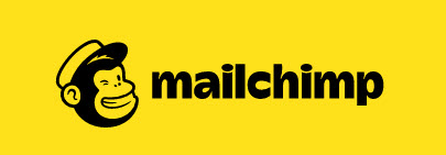 The mailchimp logo, which is a winking monkey wearing a hat to the left of the business name.