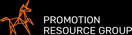 Promotion Resource Group logo, which consists of a pegasus constellation to the left of their business name.