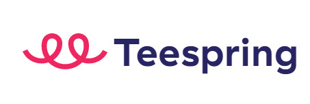 Teespring Logo, which is a spring to the left of their name.
