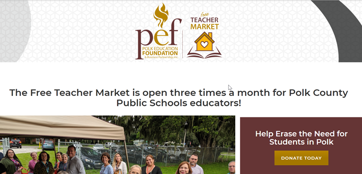 Example of fundraising for education from The Polk Education Foundation