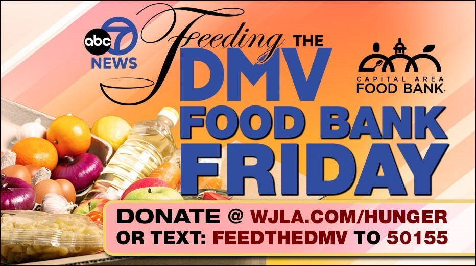 Second image from Capital Area Food Bank's mobile fundraising campaign with ABC7 News.