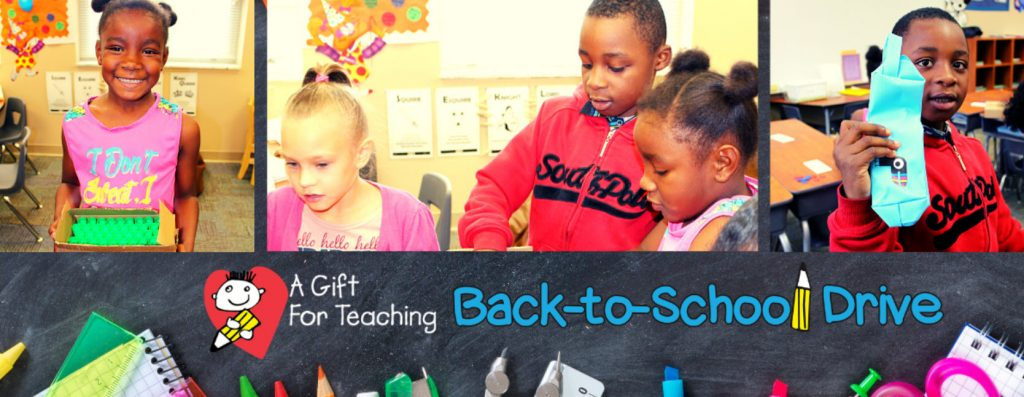Cover image for the A Giftr for Teaching Back to School Drive peer-to-peer event.
