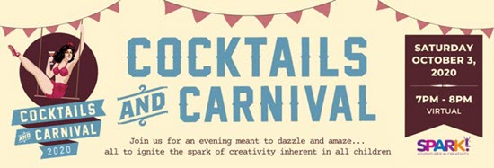 Screenshot from Dallas SPARK's Cocktails and Carnival event