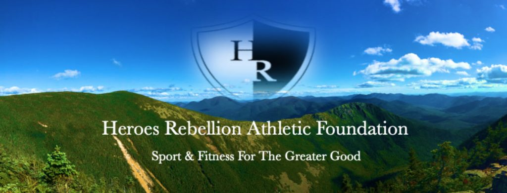 Heroes Rebellion Athletic Foundation year-round peer-to-peer form event image showing a mountain view.