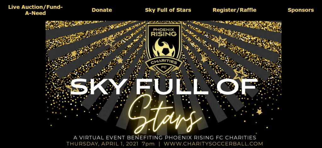 Sky Full of Stars Hybrid Gala and Silent Auction Event Banner.