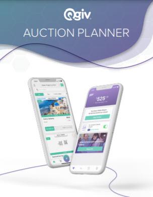 Qgiv's auction planner cover image.