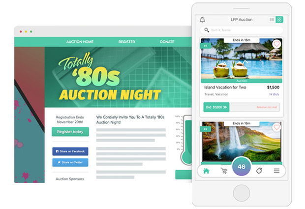 Use your charity auction software to offer both mobile and web based bidding.