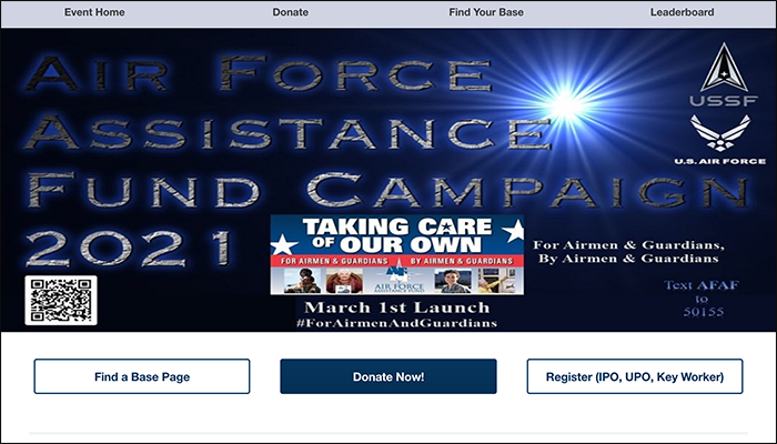 Here is an example of a mobile fundraiser from the US Air Force.